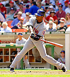 11 April 2006: Jose Reyes, infielder for the New York Mets, at bat against the Washington Nationals during the Nationals' Home Opener at RFK Stadium, in Washington, DC. The Mets defeated the Nationals 7-1 to maintain their early lead in the NL East...Mandatory Photo Credit: Ed Wolfstein Photo..