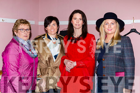 Mary Hickey, Karen Moynihan, Trish Murphy and Marie Cleverly show the style at the Friends of Chernobyl fashion show in Rathmore on Thursday night