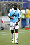 17 April 2004: Freddy Adu warms up during halftime. The MetroStars defeated DC United 3-2 at Giants Stadium in East Rutherford, NJ during a regular season Major League Soccer game..