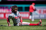 23 August 2018: Philadelphia Phillies outfielder Odubel Herrera warms up prior to a game against the Washington Nationals at Nationals Park in Washington, DC. The Phillies shut out the Nationals 2-0 to take the 3rd game of their 3-game mid-week divisional series. Mandatory Credit: Ed Wolfstein Photo *** RAW (NEF) Image File Available ***