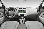 Stock photo of straight dashboard view of2015 KIA Soul EV Base 5 Door Wagon Dashboard