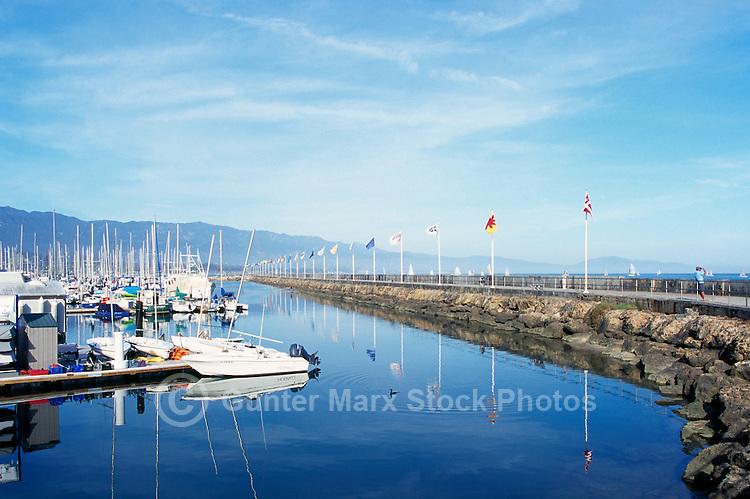 Santa Barbara Harbor and Breakwater, Santa Barbara, California, USA