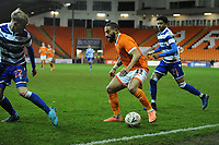 Blackpool's Liam Feeney under pressure from Reading's Teddy Howe and Michael Olise<br /> <br /> Photographer Kevin Barnes/CameraSport<br /> <br /> Emirates FA Cup Third Round Replay - Blackpool v Reading - Tuesday 14th January 2020 - Bloomfield Road - Blackpool<br />  <br /> World Copyright © 2020 CameraSport. All rights reserved. 43 Linden Ave. Countesthorpe. Leicester. England. LE8 5PG - Tel: +44 (0) 116 277 4147 - admin@camerasport.com - www.camerasport.com