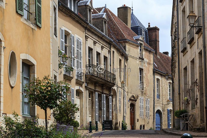 France, Orne (61), le Perche, Bellême, rue du Château et rue Ville Close // France, Orne, le Perche, Belleme, street
