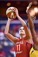 Washington, DC - August 17, 2018: Washington Mystics guard Elena Delle Donne (11) goes up strong for a lay up during game between the Washington Mystics and Los Angeles Sparks at the Capital One Arena in Washington, DC. (Photo by Phil Peters/Media Images International)