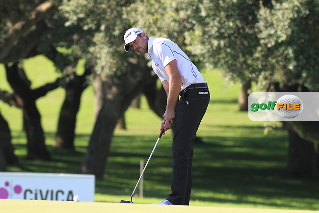 Oskar Henningsson (SWE) during the 2nd day at the  Andalucía Masters at Club de Golf Valderrama, Sotogrande, Spain. .Picture Denise Cleary www.golffile.ie