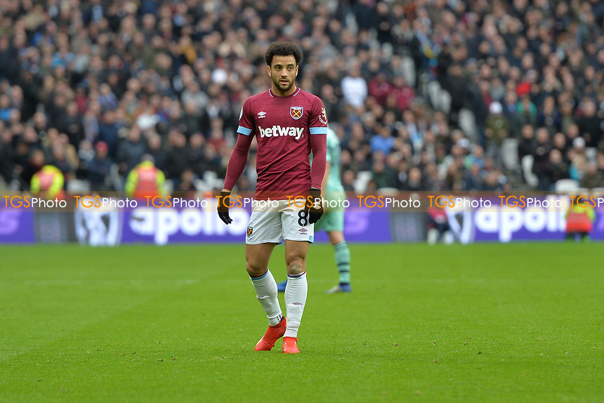 Felipe Anderson during West Ham United vs Arsenal, Premier League Football at The London Stadium on 12th January 2019