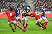 Romain Ntamack of France during the NatWest Six Nations match between France and Wales on February 1, 2019 in Paris, France. (Photo by Anthony Dibon/Icon Sport)