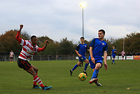 Gus Sow of Kingstonian crosses the ball during Kingstonian vs Lewes, BetVictor League Premier Division Football at King George's Field on 16th November 2019