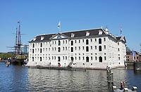 Nederland - Amsterdam-  21 april 2018.  Het Scheepvaartmuseum bij het Oosterdok.    Foto Berlinda van Dam / Hollandse Hoogte