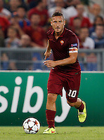 Calcio, Champions League, Gruppo E: Roma vs CSKA Mosca. Roma, stadio Olimpico, 17 settembre 2014.<br /> Roma forward Francesco Totti in action during the Group E Champions League football match between AS Roma and CSKA Moskva at Rome's Olympic stadium, 17 September 2014.<br /> UPDATE IMAGES PRESS/Riccardo De Luca