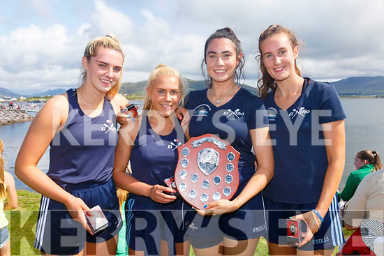 The Portmagee Minor Girls with a clean sweep of 1st places from the 2109 Regattas pictured here in Valentia on Sunday as they added the final victory to their hoard of Gold Medals were l-r; Rachel Devane, Cliodhna Guiney, Sorcha Lynch, Cliona Murphy the crew were coxed by David Hussey.