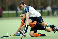 Hampstead / ST. Albans<br /> Mens Premier Division<br /> Paddington Rec Ground, Maida Vale, March 1st, 2003<br /> Pic : Max Flego<br /> Eddie O'Brien