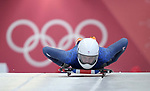 Laura Deas (GBR). Womens Skeleton training. Pyeongchang2018 winter Olympics. Olympic sliding centre. Alpensia. Pyeongchang. Republic of Korea. 07/02/2018. ~ MANDATORY CREDIT Garry Bowden/SIPPA - NO UNAUTHORISED USE - +44 7837 394578