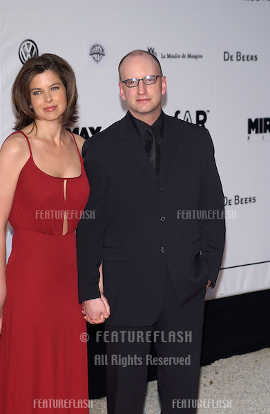 Director STEVEN SODERBERGH & girlfriend TV presenter JULES ASNER at Le Moulin de Mougins restaurant for amfAR's Cinema Against AIDS 2003 Gala..22MAY2003
