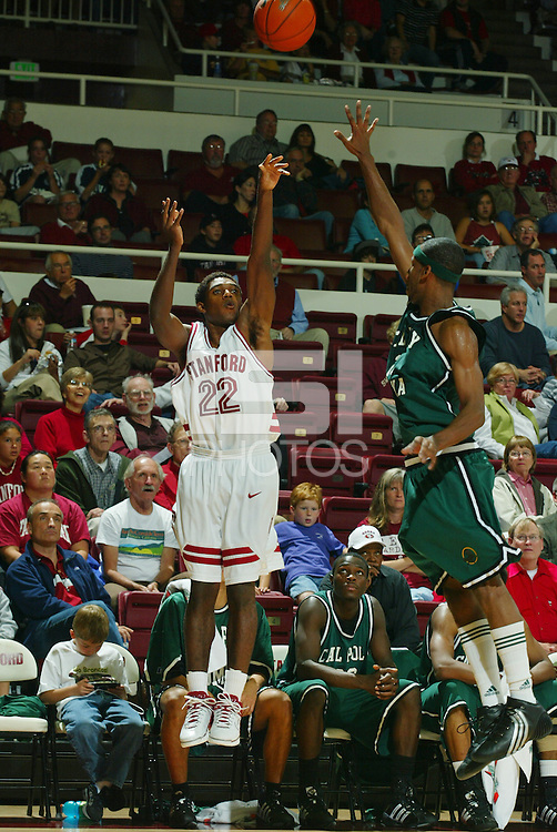 12 November 2005: Kenny Brown from Stanford's 99-70 win over Cal Poly Pomona at Maples Pavilion in Stanford, CA.