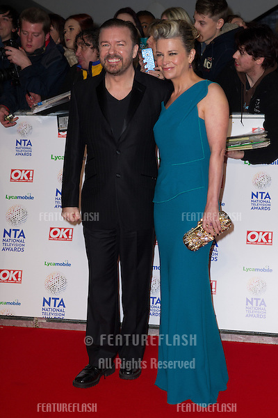 Ricky Gervais arriving for the National TV Awards 2014, at the O2, London. 22/01/2014 Picture by: Dave Norton / Featureflash