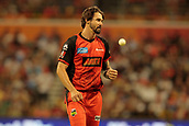 8th January 2018, The WACA, Perth, Australia; Australian Big Bash Cricket, Perth Scorchers versus Melbourne Renegades; Kane Richardson of the Melbourne Renegades walks back to his bowling mark during the Scorchers innings