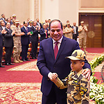Egyptian President Abdel Fattah al-Sisi attends the educational seminar of the armed forces, in Cairo, Egypt, on October 9, 2017. Photo by Egyptian President Office