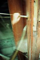 Ghostly hand opening door