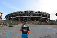 13th June 2020; Stadio San Paolo, Naples, Campania, Italy; Coppa Italia Football, Napoli versus Inter Milan; An empty stadium car park before the game