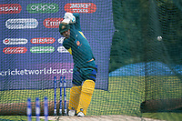 Aaron Finch (Australia) drives in the nets during a Training Session at Edgbaston Stadium on 10th July 2019