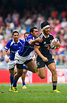 New Zealand play Samoa in the Cup Quarter Final on Day 3 of the Cathay Pacific / HSBC Hong Kong Sevens 2013 on 24 March 2013 at Hong Kong Stadium, Hong Kong. Photo by Manuel Queimadelos / The Power of Sport Images