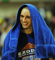 Saints guard Lindsay Tait is all smiles after the win. NBL Semifinal - Wellington Saints v Nelson Giants at TSB Bank Arena, Wellington, New Zealand on Friday, 15 July 2011. Photo: Dave Lintott / lintottphoto.co.nz