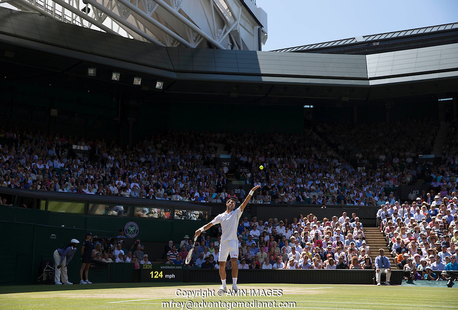 NOVAK DJOKOVIC (SRB)<br /> The Championships Wimbledon 2014 - The All England Lawn Tennis Club -  London - UK -  ATP - ITF - WTA-2014  - Grand Slam - Great Britain -  4th July  2014. <br /> <br /> © AMN IMAGES