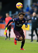 9th February 2019, The John Smith's Stadium, Huddersfield, England; EPL Premier League football, Huddersfield versus Arsenal : Alex Iwobi of Arsenal lraces after a pass over the Huddersfield defence