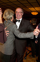 BCE  President & CEO; Jean Montydancxes with his wife  ata  gala night, October 12, 2001<br />  in Montreal, CANADA.<br /> <br /> Bell Canada Enterprises (BCE) has signed a<br /> letter of intent to join other industry leaders in the Liberty Alliance Project,  to create an open standard for single sign-on for<br /> network identity. The open system will enable Internet users to carry a<br /> single, secure sign-on identity across all devices and all interactions on the<br /> Internet.<br /> <br /> Photo by Pierre Roussel / Getty Images (ON SPEC)