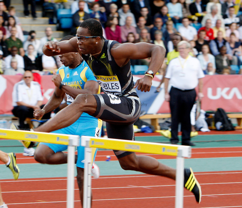 Photo: Richard Lane/Richard Lane Photography..Aviva London Grand Prix. 24/07/2009. Cuba's Dayron Robles in a men's 110m hurdles heat.
