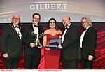 16-6-2019:  Aishling Byrne and John Higgins UCD Musical Society- Cabaret  first runner-up in the Best Overall Show award in the INEC Killarney at the weekend receiving the trophy from Seamus Power, President, AIMS left and Rob Donnelly, Vice-President and adjucator Tony McClean-Fay, right.<br /> Photo: Don MacMonagle - macmonagle.com<br /> <br /> repro free photo from AIMS<br /> <br /> AIMS PRESS RELEASE: There was plenty of glitz and glamour in Killarney on Saturday night as The Association of Irish Musical Societies has its Annual Awards Ceremony in Killarney. Over 1,500 people could be heard over the Kerry mountains as the winners were announced by MC Fergal D'Arcy. Many societies were double winners on the night including UCD Musical Society, Dublin were dancing all the way to the trophies winning Best Choreography and Best Choreographer for Leah Meagher for Cabaret and  Tullamore Musical Society who took their moment as Chris Corroon won Best Male Singer for his sinful performance as Henry Jekyll in Jekyll &Hyde and also Director Paul Norton who'd plenty to celebrate picking Best Director for  the same show. The moment was once again taken by Jekyll&Hyde by Dùn Laoighaire Musical&Dramatic Society as Kevin Hartnett took up Best Male Singer in the Sullivan category.Nenagh Youth Musical Society raised their voices high and took home Best Ensemble. It was a superior night for Enniscorthy Musical Society by winning Best Comedienne for Jennifer Byrne as Mother Superior and Best Technical too. Portlaoise Musical Society rose to the top by taking home Best Overall Show in the Gilbert section for their stunning production of Titanic. Oyster Lane Theatre Group, Wexford flew their flag high taking home Best Overall Show in the Sullivan Section for their breathtaking production of Michael Collins-a Musical Drama.<br /> Other winners on the night included Best Comedian for Ronan Walsh as Officer Lockstock in Urinetown for Trim Musical Society, Best Actress in a Supporting Role for  Roisin Lawless as Vi M