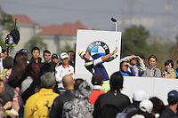 Marcel Siem (GER) tees off the 7th tee during Sunday's Final Round of the 2014 BMW Masters held at Lake Malaren, Shanghai, China. 2nd November 2014.<br /> Picture: Eoin Clarke www.golffile.ie