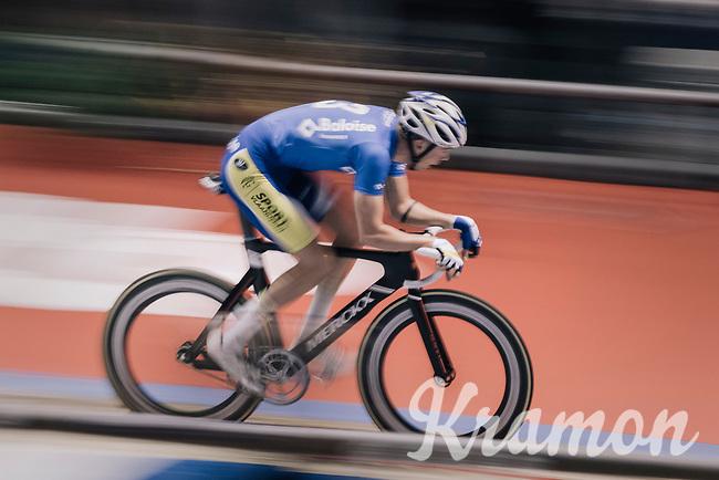 Moreno De Pauw (BEL/SportVlaanderen-Baloise) speeding at the 'Kuipke' velodrome<br /> <br /> Ghent 6day<br /> Belgium 2017
