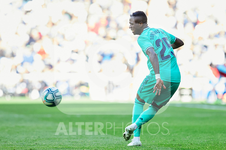 Vinicius Junior of Real Madrid during La Liga match between Real Madrid and RCD Espanyol at Santiago Bernabeu Stadium in Madrid, Spain. December 07, 2019. (ALTERPHOTOS/A. Perez Meca)