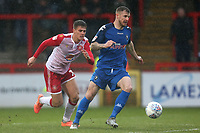 Tom Soares of Stevenage and Ashley Eastham of Salford City during Stevenage vs Salford City, Sky Bet EFL League 2 Football at the Lamex Stadium on 15th February 2020