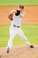 Starting pitcher Brad Furnish #18 of the Kannapolis Intimidators in action against the Delmarva Shorebirds at Fieldcrest Cannon Stadium on August 6, 2011 in Kannapolis, North Carolina.  The Intimidators defeated the Shorebirds 14-6.   (Brian Westerholt / Four Seam Images)