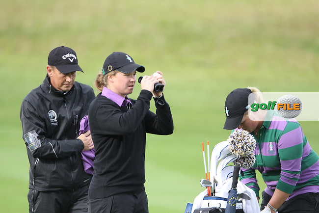 Caroline Hedwall (SWE) on Thursday, the third practice day at the 2011 Solheim Cup at Killeen Castle, Co. Meath, Ireland...Photo Golffile/Jenny Matthews.(Photo credit should read Jenny Matthews www.golffile.ie)....This Picture has been sent you under the conditions enclosed by:.Newsfile Ltd..The Studio,.Millmount Abbey,.Drogheda,.Co Meath..Ireland..Tel: +353(0)41-9871240.Fax: +353(0)41-9871260.GSM: +353(0)86-2500958.email: pictures@newsfile.ie.www.newsfile.ie.