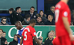 Phil Jagielka of Everton and Leon Osmon watch on during the English Premier League match at Goodison Park, Liverpool. Picture date: December 19th, 2016. Photo credit should read: Lynne Cameron/Sportimage