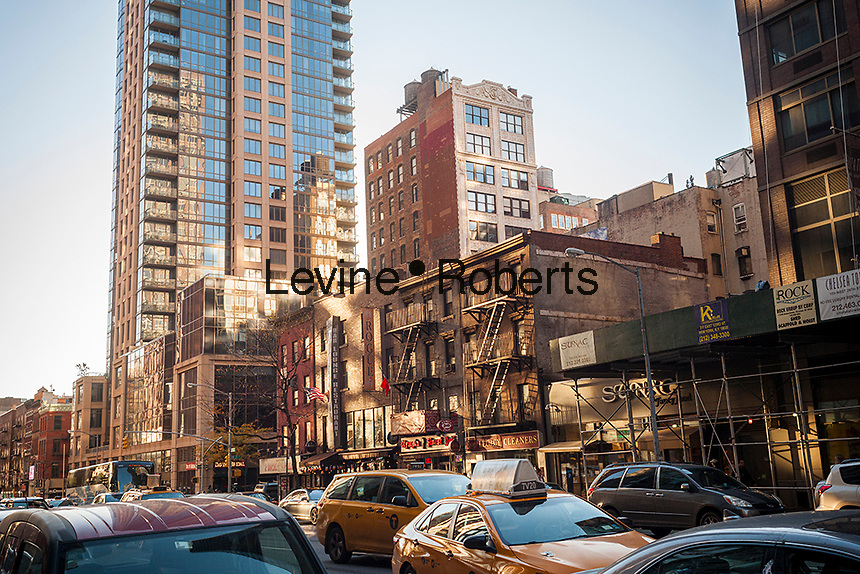 Undeveloped real estate along the west side of Sixth Avenue in the Chelsea neighborhood in New York on Sunday, November 13, 2016. (© Richard B. Levine)