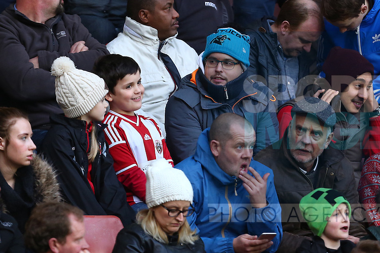 United fans - Sheffield United vs Bradford City - Skybet League One - Bramall Lane - Sheffield - 28/12/2015 Pic Philip Oldham/SportImage