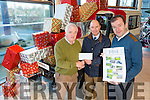 Chairperson Pat Dowling , Tim Kelleher of Kellehers Toyota, Tralee and a Ballymac resident Ballymacelligott and, Secreatry Fionan Fitzgerald Launch the Community Alert Group Calendar of 2016.on Monday The Calendars are available  now at Mannix's PO, Ballydwyer, The Half Way Bar, Ballydwyer, O'Riada's Bar, Maglass and Glenduff House
