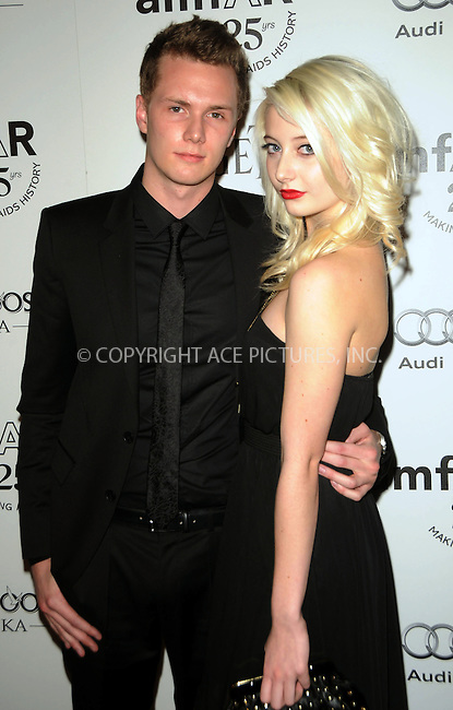 WWW.ACEPIXS.COM . . . . .  ....October 27 2011, LA....Barron Hilton and actress Vanessa Dubasso arriving at the amfAR Inspiration Gala at Chateau Marmont on October 27, 2011 in Los Angeles, California. ....Please byline: PETER WEST - ACE PICTURES.... *** ***..Ace Pictures, Inc:  ..Philip Vaughan (212) 243-8787 or (646) 679 0430..e-mail: info@acepixs.com..web: http://www.acepixs.com