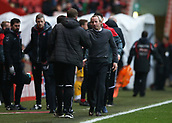 24th March 2018, The Valley, London, England;  English Football League One, Charlton Athletic versus Plymouth Argyle; Charlton caretaker manager Lee Bowyer shakes hands with Plymouth Argyle Assistant Manager Paul Wotton after the final whistle