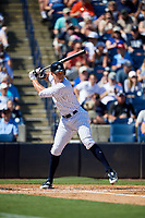 New York Yankees right fielder Aaron Judge (99) at bat during a Grapefruit League Spring Training game against the Toronto Blue Jays on February 25, 2019 at George M. Steinbrenner Field in Tampa, Florida.  Yankees defeated the Blue Jays 3-0.  (Mike Janes/Four Seam Images)