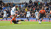 Blackburn Rovers' Bradley Dack scores his side's second goal <br /> <br /> Photographer Kevin Barnes/CameraSport<br /> <br /> The EFL Sky Bet Championship - Blackburn Rovers v Swansea City - Sunday 5th May 2019 - Ewood Park - Blackburn<br /> <br /> World Copyright © 2019 CameraSport. All rights reserved. 43 Linden Ave. Countesthorpe. Leicester. England. LE8 5PG - Tel: +44 (0) 116 277 4147 - admin@camerasport.com - www.camerasport.com