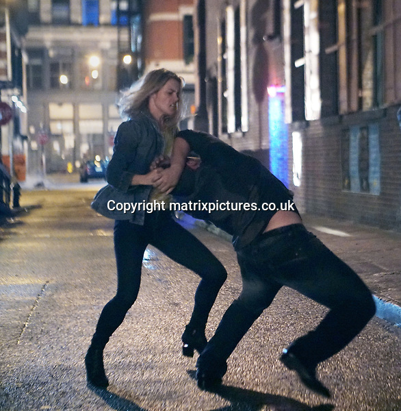 EXCLUSIVE ALL ROUND PICTURE: MATRIXPICTURES.CO.UK<br /> PLEASE CREDIT ALL USES<br /> <br /> UK RIGHTS ONLY<br /> <br /> Rachel Taylor Filming Jessica Jones in New York City. <br /> <br /> JULY 14th 2017<br /> <br /> REF: SND 171574