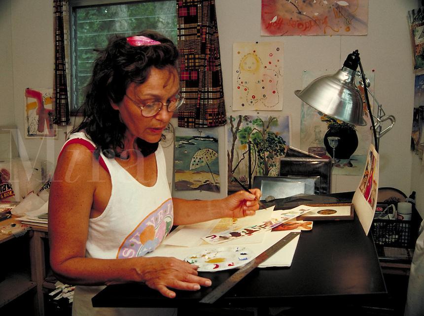 Art studio work in progress 4. Workers, artist, craftsman.