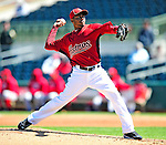 4 March 2010: Houston Astros relief pitcher Alberto Arias on the mound during the Astros' Grapefruit League Opening Day game against a Washington Nationals' split squad at Osceola County Stadium in Kissimmee, Florida. The Astros defeated the Nationals 15-5 in Spring Training action. Mandatory Credit: Ed Wolfstein Photo
